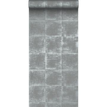 papier peint uni gris