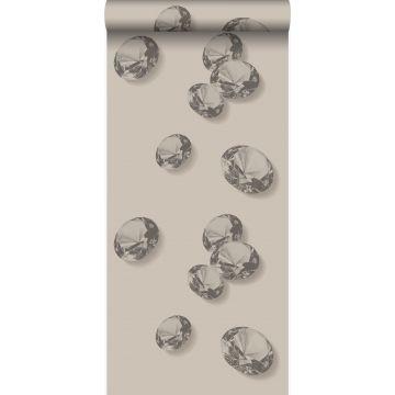 papier peint diamants gris et noir