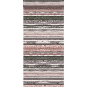 papier peint pierre de marbre en couches rose quartz