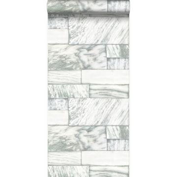 papier peint pierres de marbre blanc cassé