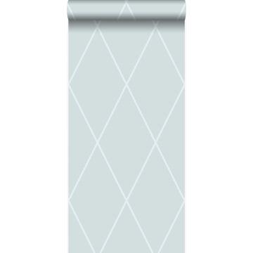 papier peint à carreaux bleu glace