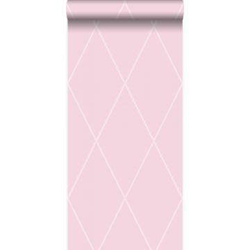 papier peint à carreaux rose