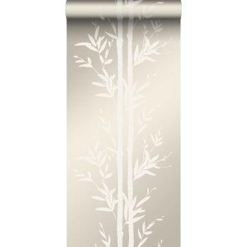 papier peint bambou blanc cassé