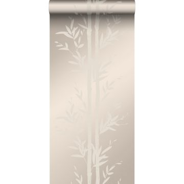 papier peint bambou argent chaud