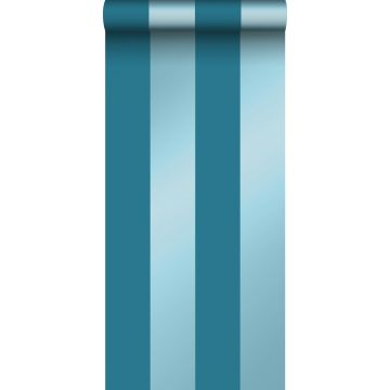 papier peint à rayures bleu canard