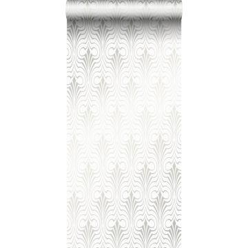papier peint forme graphique blanc