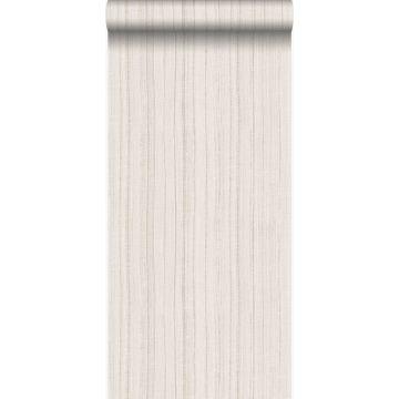 papier peint à rayures fines irrégulières beige
