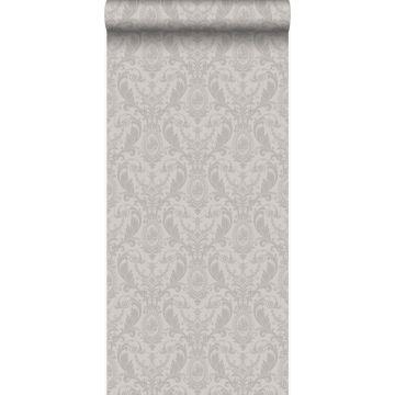 papier peint ornement gris
