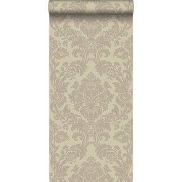 papier peint ornement beige chaud