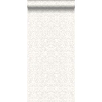 papier peint ornement blanc et gris clair