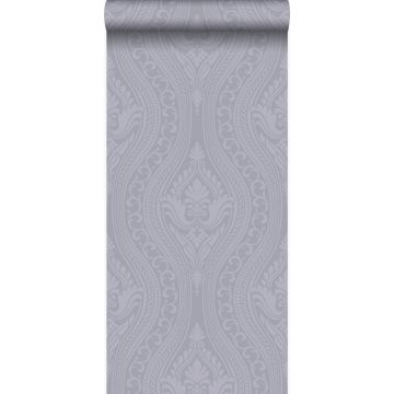 papier peint ornement violet et gris