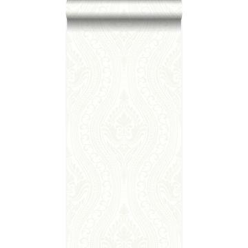 papier peint ornement blanc cassé