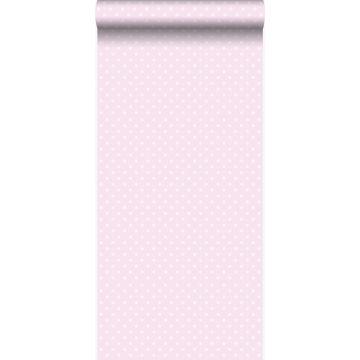 papier peint à motif de petits points rose clair