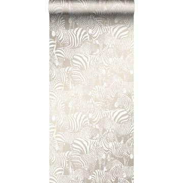 papier peint zèbres gris