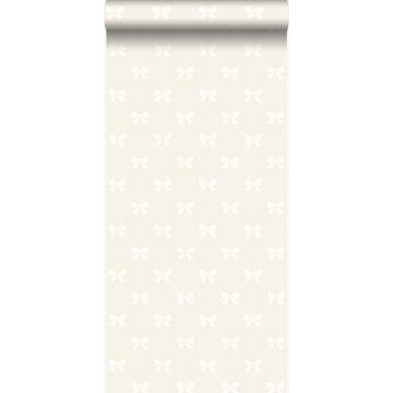 papier peint petits noeuds ruban argent