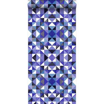 papier peint cubique violet