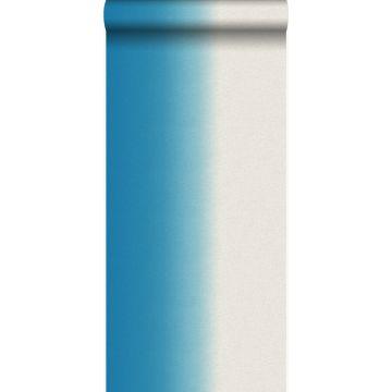 papier peint effet dip-dye turquoise