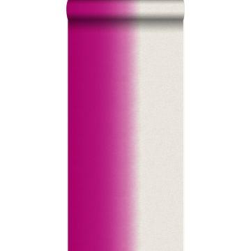 papier peint effet dip-dye rose