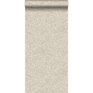 papier peint fleurs cervine