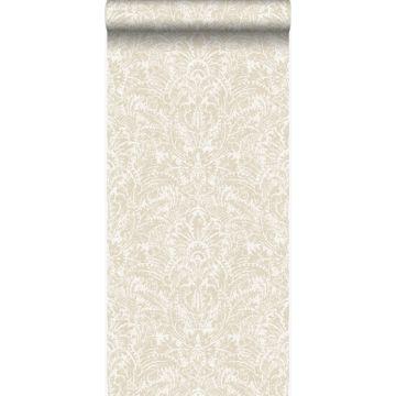 papier peint ornement beige