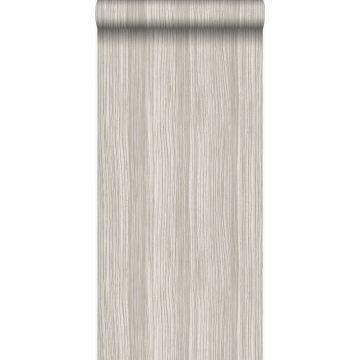 papier peint rayé marron clair brillant