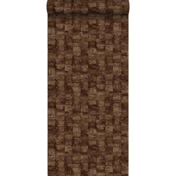 papier peint à texture brun cuivré brillant