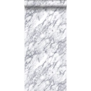 papier peint marbre Ivoire foncé blanc