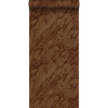 papier peint marbre brun rouille