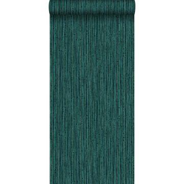 papier peint bambou vert émeraude