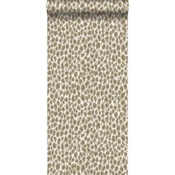 papier peint peau de léopard beige