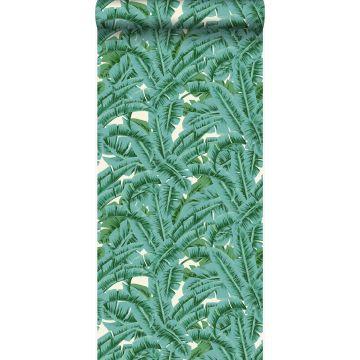papier peint feuilles de palmier vert