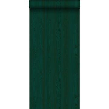 papier peint imitation bois vert émeraude