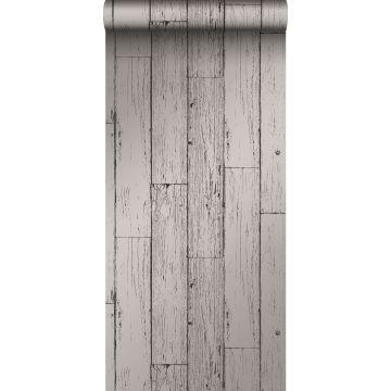 papier peint imitation bois gris foncé