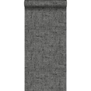 papier peint brique noir