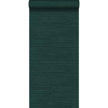 papier peint pierre naturelle brute rétro en appareil de panneresses vert émeraude