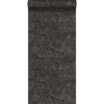 papier peint imitation pierre noir