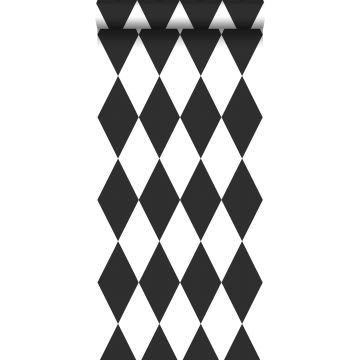 papier peint à carreaux noir et blanc
