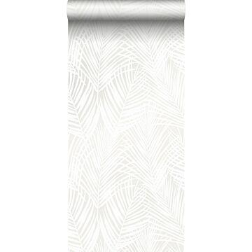 papier peint feuilles de palmier blanc