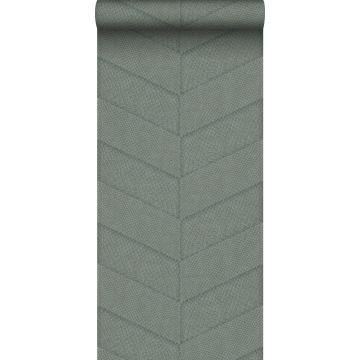 papier peint motif de carrellages avec imitation peau de serpent bleu gris