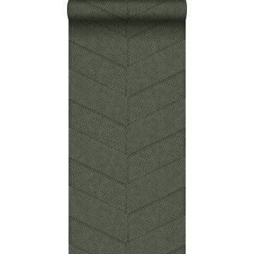 papier peint motif de carrellages avec imitation peau de serpent vert grisé