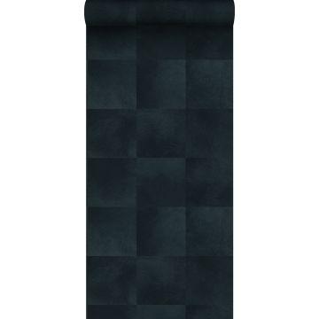 papier peint texture de peau d'animal encre bleu