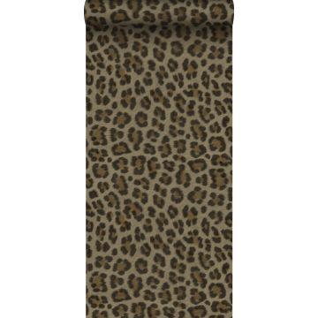 papier peint peau de léopard marron et beige