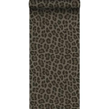 papier peint peau de léopard taupe