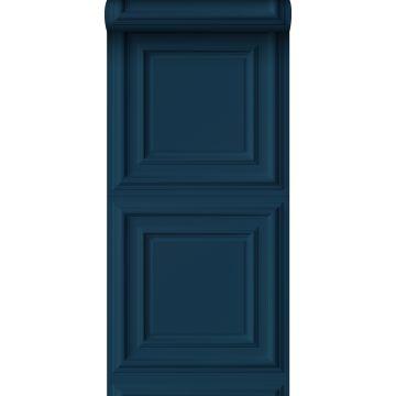 papier peint paneles de pared bleu foncé