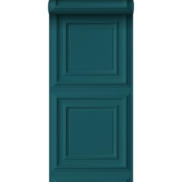 papier peint paneles de pared bleu canard
