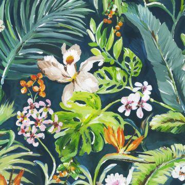 papier peint panoramique tropical vert