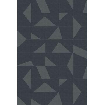 papier peint panoramique motif graphique gris foncé