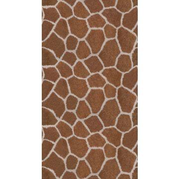 papier peint panoramique imitaiton peau de girafe marron