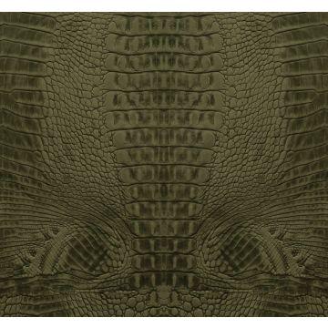 papier peint panoramique peau de crocodile vert mousse