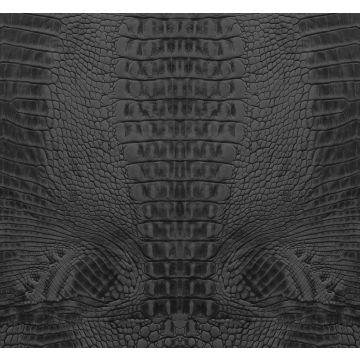 papier peint panoramique peau de crocodile noir
